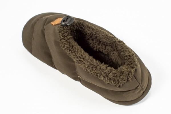 Nash ZT Bivvy Slipper Size 11 Hausschuh Fleece gefüttert Zeltschuh Gummisohle
